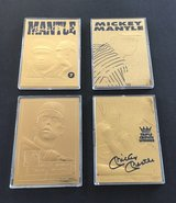 ** 1996 Bleachers 22kt -23kt Gold MICKEY MANTLE 4 Card Lot (or $12 each) with COA ** in Fort Lewis, Washington
