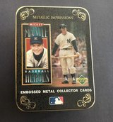 Mickey Mantle 1996 Upper Deck Baseball Heroes 5 Metallic Card Set with Collectors Tin in Fort Lewis, Washington