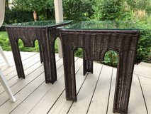 : ) Patio All Weather Wicker End Tables in Naperville, Illinois