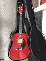 acoustic guitar with hard case in Fairfield, California
