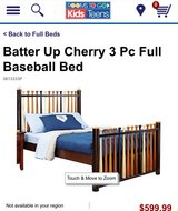Baseball Bat Bed with Mattress & Box Spring in Okinawa, Japan
