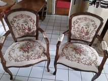 2 Chippendale Gobelin Chairs in Grafenwoehr, GE