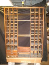 Vintage Wood Post Office-Style Sorting Cabinet in Schaumburg, Illinois