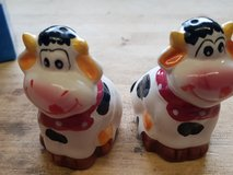 salt and pepper cows shakers in Ramstein, Germany