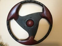 Metal steering wheel wall deco in Chicago, Illinois