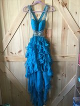 GORGEOUS TEAL OPEN BACK PROM DRESS in Naperville, Illinois