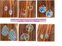 """Want Some Color?"" Laser Lace Enameled Earrings in Nellis AFB, Nevada"
