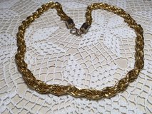 Vintage Gold Necklace Wide Chain Nice Clasp Lightweight Looks New in Kingwood, Texas