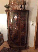 Oak Curio Cabinet in Cary, North Carolina
