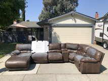 Free couch, peeling but throw a sheet over it and use in the garage or playroom?? Smoke free in Vacaville, California