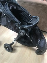 Baby Jogger Brand Stroller City Mini GT w/Rain shield, cooler, cup holders, car seat holder in Batavia, Illinois