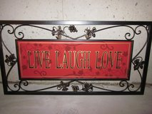 Metal Live Love Laugh Wall Art in Schaumburg, Illinois