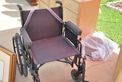 "Wheel Chair, XL, Heavy Duty, 23"" seat, Footrests, Folds, All complete in Fort Polk, Louisiana"