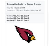 Broncos vs Cardinals in Barstow, California