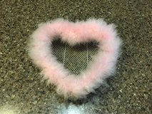 Furry Pink Heart Room Decor in Oswego, Illinois