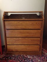 Child Craft Solid Oak Dresser/changing table in Naperville, Illinois