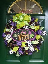 The Witch Is In Mesh Wreath in Naperville, Illinois
