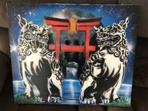 Shisa painting in Okinawa, Japan