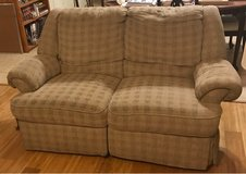 100% free reclining loveseat and matching reclining couch in Houston, Texas