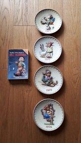 Hummel Annual Plates 1973, 1974, 1975, 1976 in Spangdahlem, Germany