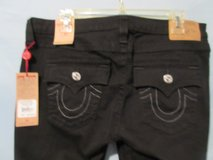 NWT True Religion Black Skinny Flap Pocket Jeans MSRP $179 in Kingwood, Texas