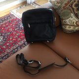 New Mens  Black Leather   Bag with shoulder  strap in Stuttgart, GE