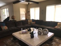 Moving and have to sell! 3-Piece Brown Couch with Pillows - $1000 in Camp Pendleton, California