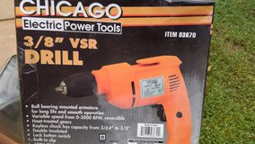 Chicago 3/8 inch VSR drill new in Byron, Georgia