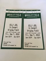 2 Tickets For Billy Joel on Sept 7th in Plainfield, Illinois