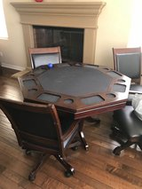 Moving and have to sell! Poker/Game Table with 4 Chairs $500 obo in San Diego, California