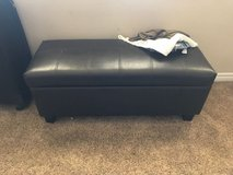 Moving and have to sell! Leather Ottoman - Dark Brown - $60 obo in San Ysidro, California