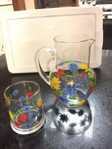 "Small  6"" H Pitcher w/flower design & matching 6 oz. Cup in Bolingbrook, Illinois"