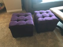 Moving and have to sell! 2 Dark Brown Foot Stools $40 each in San Ysidro, California