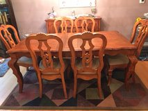 Seven piece dining room set plus buffet in Westmont, Illinois