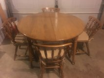 Hard maple table and chairsv in Fort Campbell, Kentucky