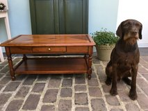 elegant solid wood coffee table from France in Ramstein, Germany