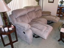 Reduced New Ashley Sofa/Recliner and Matching Recliner in Cherry Point, North Carolina