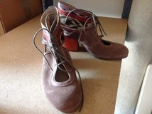 Leather Block Heel Shoes - Womens Size 7 Med in Ramstein, Germany