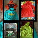 Hoodies (4), 2 shirts, size 7 . Fits 5-7y old boy $3 each. Or $14 for all 6. in Bartlett, Illinois