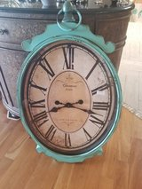 Shabby Chic teal blue wall clock in Sandwich, Illinois