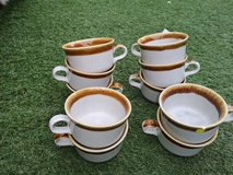 10 brown and white cups in Lakenheath, UK