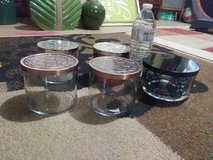 Lot of Glass Containers With Lids in Naperville, Illinois