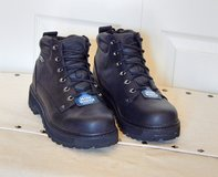 Sketchers Men's Black Leather Boots Shoes SN 4473 Mariner Size 11.5 Wide NEW in Plainfield, Illinois