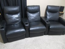 Theater Room Chairs Man Cave Seating - Set of 3 in Kingwood, Texas