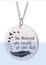 Inspirational Words Necklace in Clarksville, Tennessee