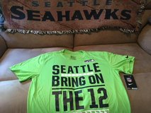SEATTLE SEAHAWKS - Neon Nike Team Apparel Dri-Fit Shirt (Large) BRING ON THE 12 *** NEW in Fort Lewis, Washington
