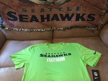 SEATTLE SEAHAWKS - Neon Nike Team Apparel Dri-Fit Shirt (Large) with NFL Logo on Back *** NEW *** in Tacoma, Washington