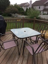 Patio table and four chairs in Plainfield, Illinois