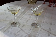 "Set of Two Two: Fostoria Amber 6"" Champagne Glass in Tacoma, Washington"