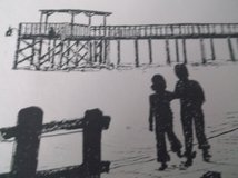 walking by the sea ink print  14 by 18 signed in Alamogordo, New Mexico
